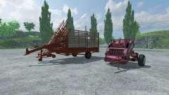 Bale baler and bales pickup for Farming Simulator 2013