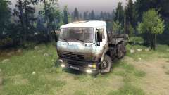 White-dirty color on KAMAZ-6520