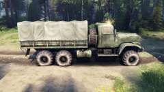 The short distance between the rear axles KrAZ-2