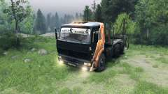 Black and orange color on KAMAZ-6520