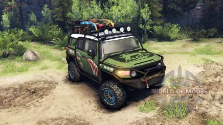 Toyota FJ Cruiser green for Spin Tires