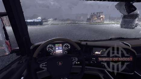 New display at Scania truck for Euro Truck Simulator 2