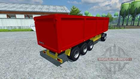 The semi-trailer Schmitz SKI 50 v2.0 for Farming Simulator 2013
