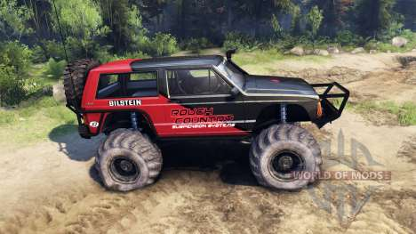 Jeep Cherokee XJ v1.3 Rough Country red clean for Spin Tires
