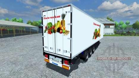 Semi-refrigerated KRONE Koffer Cool Liner for Farming Simulator 2013