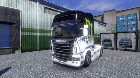 Color-Monster Energy - truck Scania for Euro Truck Simulator 2