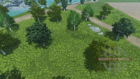 New textures of trees and grass for Farming Simulator 2013
