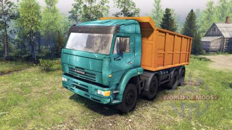 KamAZ-65201 for Spin Tires