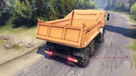 KamAZ-6520 dump truck 6x6 for Spin Tires