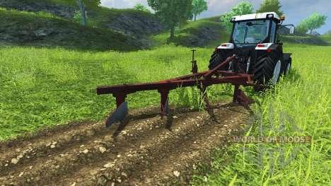 The plough PLN-4-35 for Farming Simulator 2013