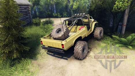 Toyota FJ40 Olive for Spin Tires