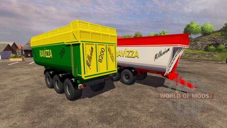 Trailers Ravizza Millenium 8200 for Farming Simulator 2013