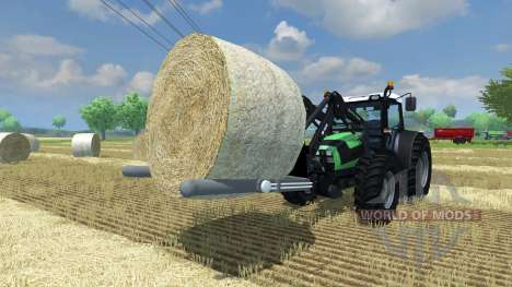 Forks for loading round bale for Farming Simulator 2013