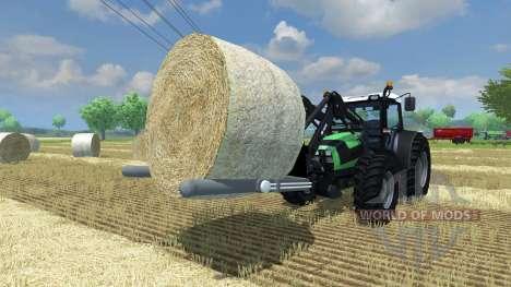 Forks for loading round bale for Farming Simulator 2013