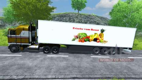 Semi-refrigerated KRONE Koffer Cool Liner for Farming Simulator 2013