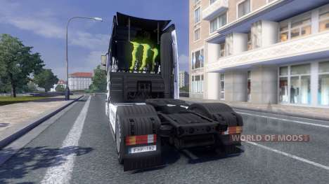 Color-Monster Energy - tractor Majestic for Euro Truck Simulator 2