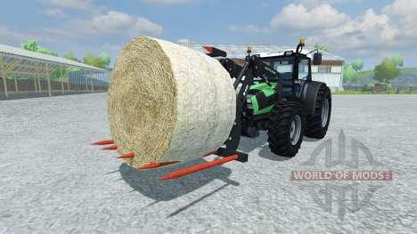 Forks for loading bales for Farming Simulator 2013