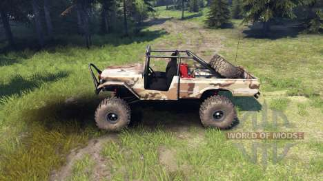 Toyota FJ40 Camo for Spin Tires
