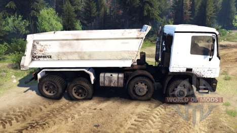 Mercedes-Benz Actros 4141 Tipper for Spin Tires