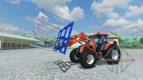 Forks for loading of non-original bales for Farming Simulator 2013