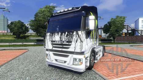 Color-Monster Energy - for Iveco truck for Euro Truck Simulator 2