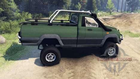 UAZ Patriot Pickup for Spin Tires