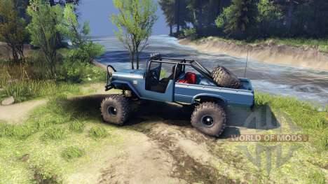 Toyota FJ40 Steel Blue for Spin Tires