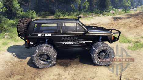 Jeep Cherokee XJ v1.3 Rough Country black for Spin Tires