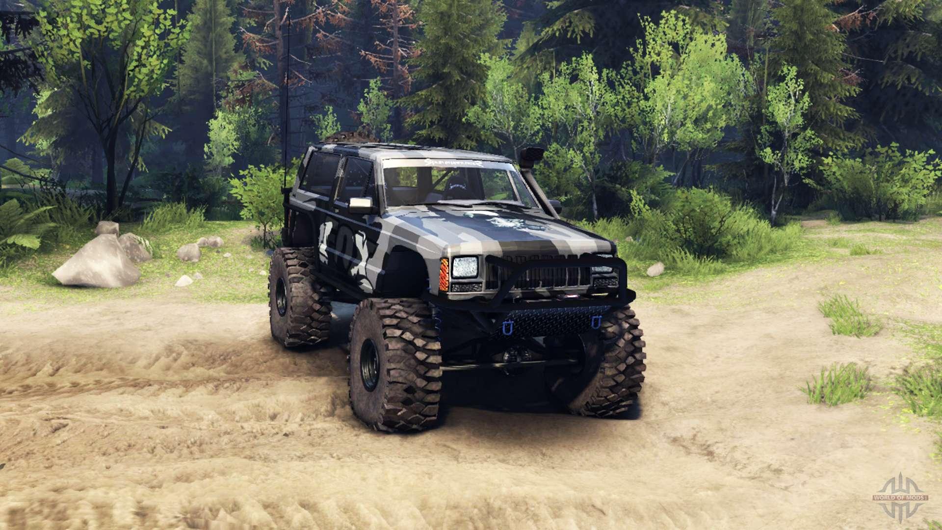 Jeep cherokee xj v1 3 camo for spin tires