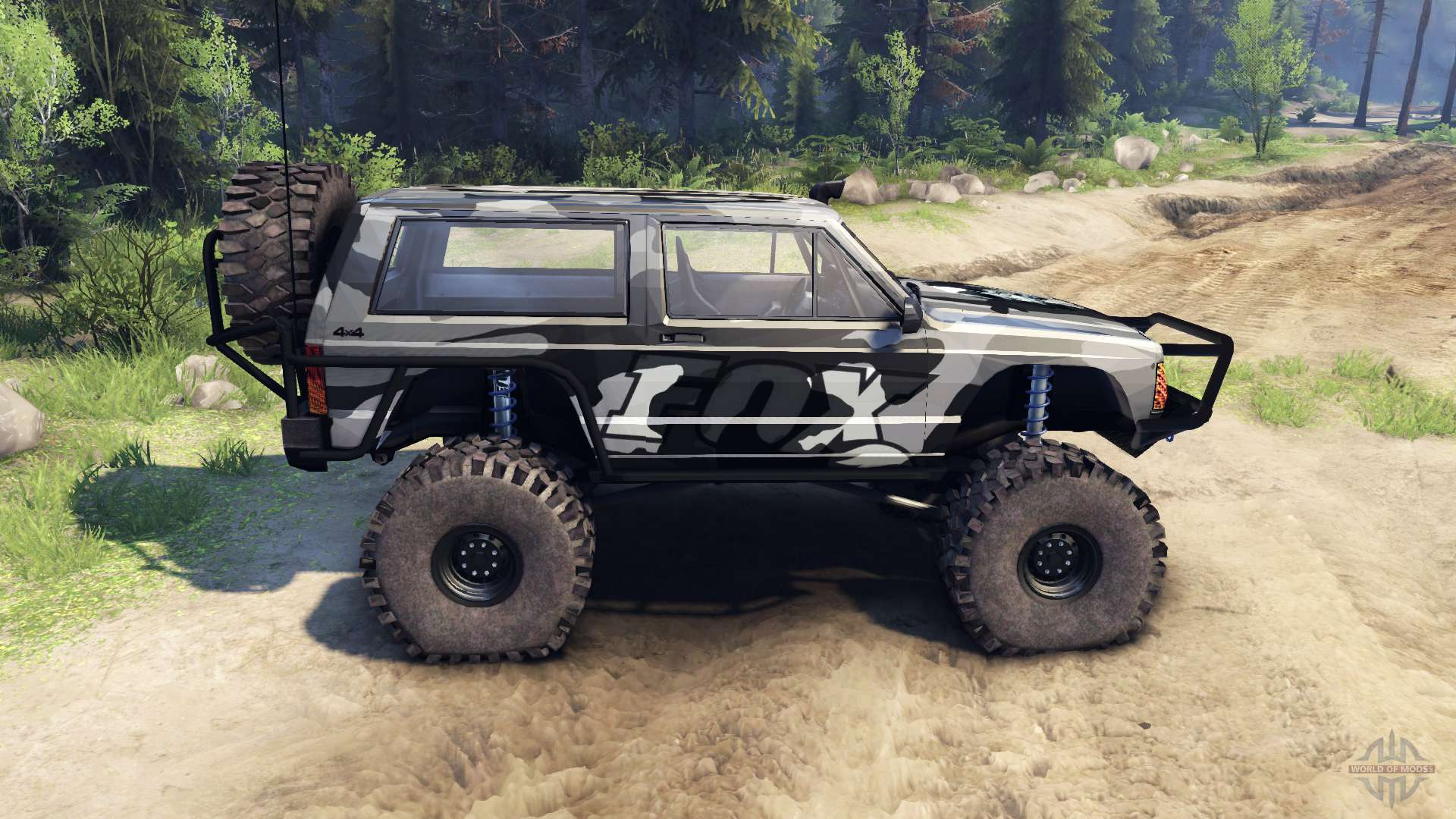 Jeep Cherokee XJ v1.3 Camo for Spin Tires