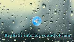 Realistic sound of rain