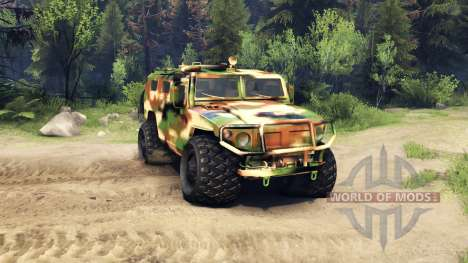The GAZ-2975 Tiger camo for Spin Tires