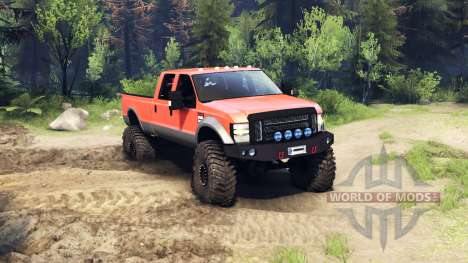 Ford F-350 Super Duty 6.8 2008 v0.1.0 orange for Spin Tires