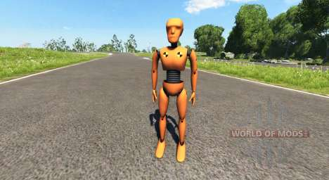 The dummy for crash tests for BeamNG Drive