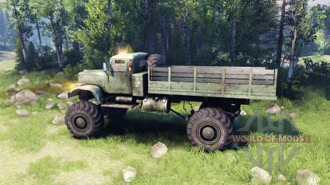 KrAZ-255 4x4 for Spin Tires
