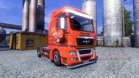 Color-Jagermeister - on truck MAN TGX for Euro Truck Simulator 2