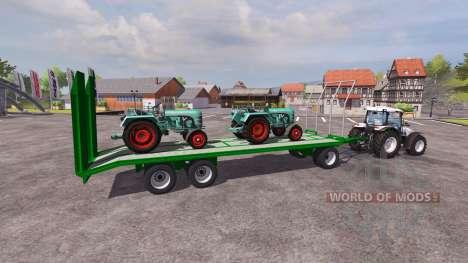 Transport trailer for Farming Simulator 2013