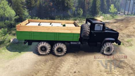 The KrAZ-6322 Tuning for Spin Tires