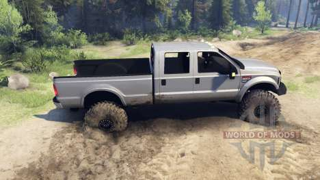 Ford F-350 Super Duty 6.8 2008 v0.1.0 silver for Spin Tires