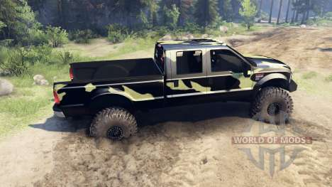 Ford F-350 Super Duty 6.8 2008 v0.1.0 camo for Spin Tires