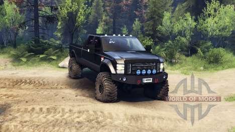 Ford F-350 Super Duty 6.8 2008 v0.1.0 black for Spin Tires