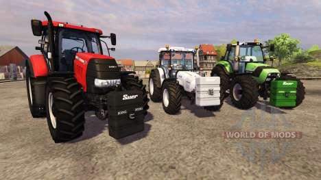Opposed to 800 kg for Farming Simulator 2013