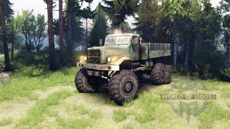 KrAZ-255 6x6 for Spin Tires