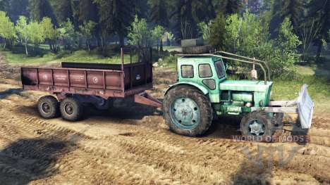 Tractor T-IM v1.1 green for Spin Tires