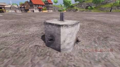 Concrete counterweight for Farming Simulator 2013