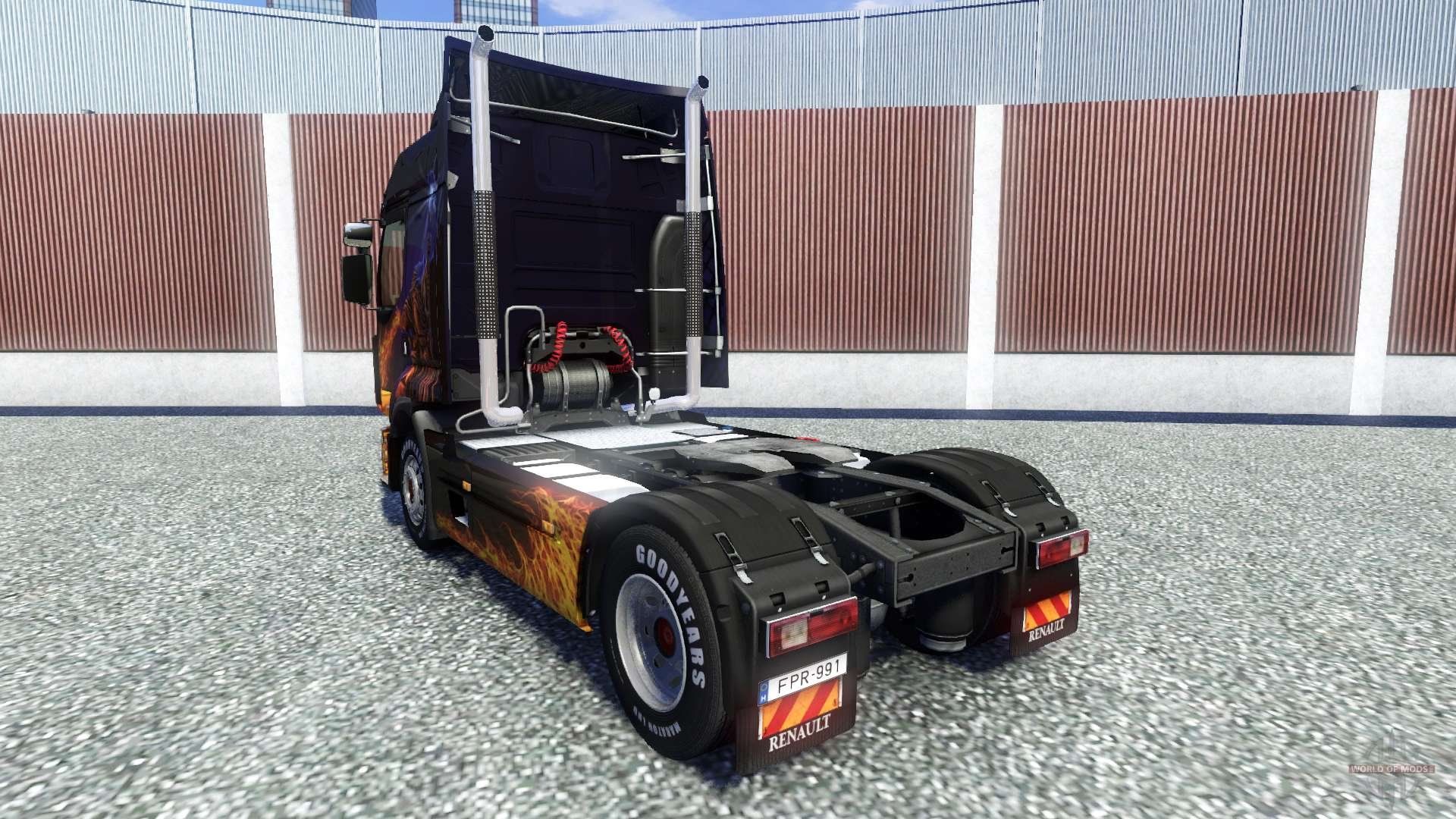 High Exhaust Pipe For Euro Truck Simulator 2