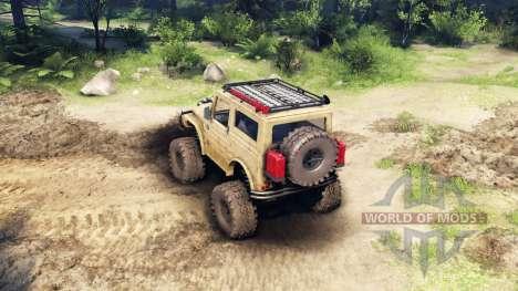 Suzuki Samurai LJ880 dirty desert tan for Spin Tires