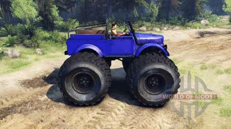 ГАЗ-69М Blue Monster for Spin Tires