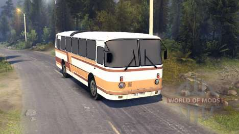 ЛАЗ-699Р orange-brown stripes for Spin Tires