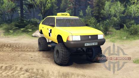 AZLK Moskvich 2141 taxi monster v1.1 for Spin Tires